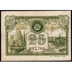 Dieppe - Pirot 52-10 - 25 centimes - 1920 - Etat : TTB-