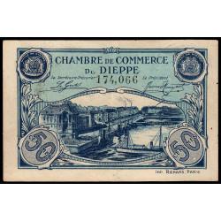 Dieppe - Pirot 52-22 - 50 centimes - 1920 - Etat : SUP