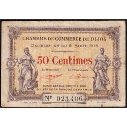 Dijon - Pirot 53-1 - 50 centimes - 02/08/1915 - Etat : TB-