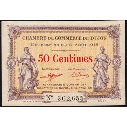 Dijon - Pirot 53-1 - 50 centimes - 02/08/1915 - Etat : SPL