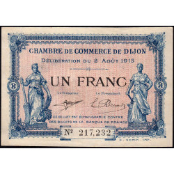 Dijon - Pirot 53-4 - 1 franc - 02/08/1915 - Etat : SUP+
