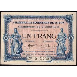 Dijon - Pirot 53-4 - 1 franc - Sans série - 02/08/1915 - Etat : SUP+