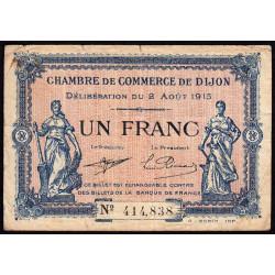 Dijon - Pirot 53-4 - 1 franc - Sans série - 02/08/1915 - Etat : TB-