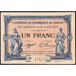 Dijon - Pirot 53-4 - 1 franc - Sans série - 02/08/1915 - Etat : TTB