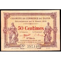 Dijon - Pirot 53-7 - 50 centimes - 1916 - Etat : TTB-