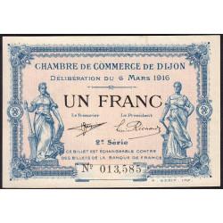 Dijon - Pirot 53-9 - 1 franc - 2e série - 06/03/1916 - Etat : SPL