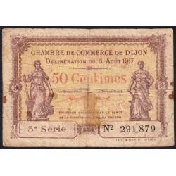 Dijon - Pirot 53-10 - 50 centimes - 1917 - Etat : B