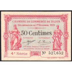 Dijon - Pirot 53-17 - 50 centimes - 01/12/1919 - Etat : SUP