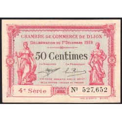 Dijon - Pirot 53-17 - 50 centimes - 4e série - 01/12/1919 - Etat : SUP