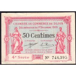 Dijon - Pirot 53-17 - 50 centimes - 4e série - 01/12/1919 - Etat : TTB