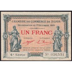 Dijon - Pirot 53-20 - 1 franc - 4e série - 01/12/1919 - Etat : TB+