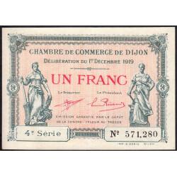 Dijon - Pirot 53-20 - 1 franc - 01/12/1919 - Etat : SUP