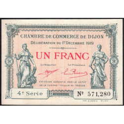 Dijon - Pirot 53-20 - 1 franc - 1919 - Etat : SUP