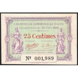 Dijon - Pirot 53-23 - 25 centimes - 30/08/1920 - Etat : NEUF