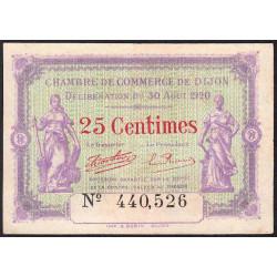 Dijon - Pirot 53-23 - 25 centimes - 30/08/1920 - Etat : SUP