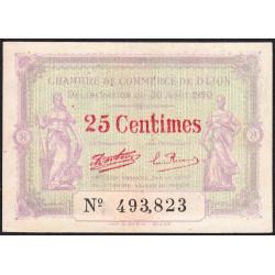 Dijon - Pirot 53-23 - 25 centimes - 30/08/1920 - Etat : SPL
