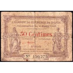 Dijon - Pirot 53-7 - 50 centimes - 1916 - Etat : B-