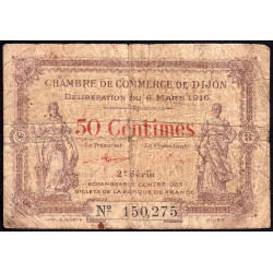 Dijon - Pirot 53-7 - 50 centimes - 2e série - 06/03/1916 - Etat : B-
