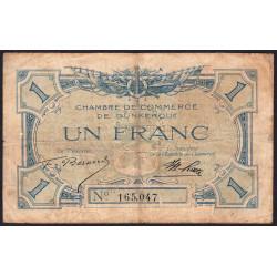 Dunkerque - Pirot 54-5 - 1 franc - Sans date - Etat : TB-