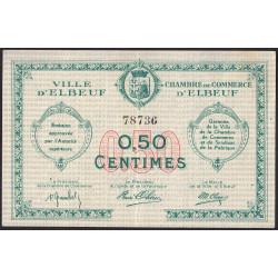 Elbeuf - Pirot 55-1b - 50 centimes - Etat : TTB+