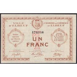 Elbeuf - Pirot 55-02b - 1 franc - Etat : SUP