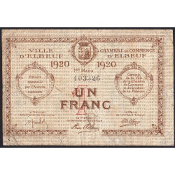 Elbeuf - Pirot 55-17 - 1 franc - 01/03/1920 - Etat : B+