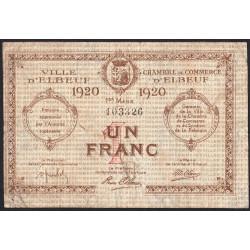 Elbeuf - Pirot 55-17 - 1 franc - Etat : B+