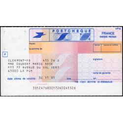 Postchèque - 1981 - Etat : SPL