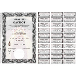 95 - Enghien - Appareils Gachot - 100 NF - 1962 - Spécimen - SUP+