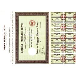 Banque Mobilière privée - 50 NF - 1962 - Spécimen - SUP+