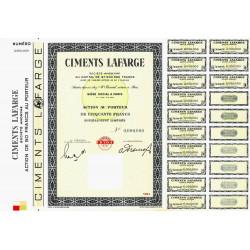 Ciments Lafarge - 50 francs - 1964 - Spécimen - SUP+