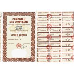 Compagnie des Compteurs - 100 francs - 1965 - Spécimen - SUP+