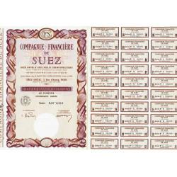 Compagnie Financière de Suez - 100 NF - 1962 - Spécimen - SUP+