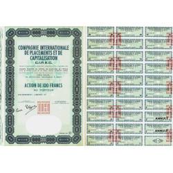 Compa. Intern. Placem. et Capitalisation - 100 francs - 1964 - Spécimen - SUP+