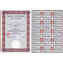 44 - Nantes - Crédit Indus. de l'Ouest - 50 francs - 1965 - Spécimen - SUP+