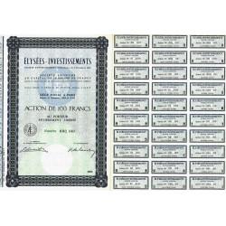 Elysées-Investissments - 100 francs - 1963 - Spécimen - SUP+
