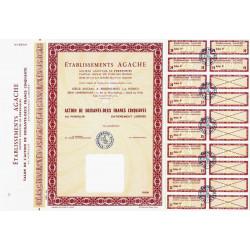 59 - Pérenchies - Etabl. Agache - 62,50 francs - 1966 - Spécimen - SUP+
