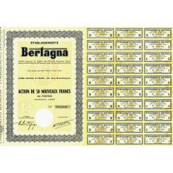Algérie - Etablissements Bertagna - 50 NF - 1962 - Spécimen - SUP+
