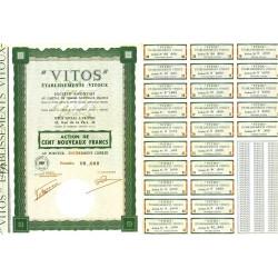 10 - Troyes - Etablissements Vitoux - 100 NF - 1962 - Spécimen - SUP+