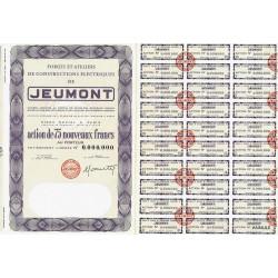 59 - Jeumont - Forges Ateliers de Const. Elec. - 75 NF - 1960 - Spécimen - SUP+