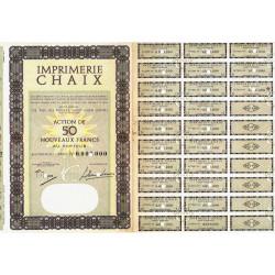 Imprimerie Chaix - 50 NF - 1962 - Spécimen - SUP+