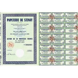 55 - Stenay - Papeterie de Stenay - 50 NF - 1962 - Spécimen - SUP+