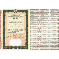S.A. de Documentation et de Gestion - 100 francs - 1966 - Spécimen - SUP+