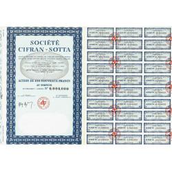 74 - Sciez - Soc. Cifran-Sotta - 100 NF - 1960 - Spécimen - SUP+