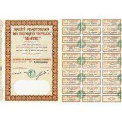 Soc. d'Invest. des Techniques Nouvelles - 100 NF - 1960 - Spécimen - SUP+