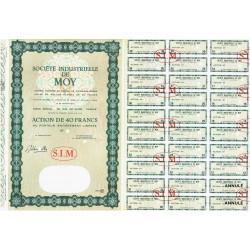 02 - Moÿ-de-l'Aisne - Soc. Industr. de Moy - 40 francs - 1964 - Spécimen - SUP+