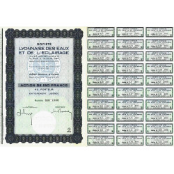 Soc. Lyonnaise Eaux et Eclairage - 150 francs - 1963 - Spécimen - SUP+