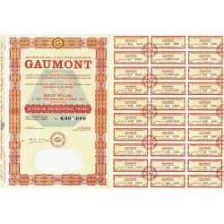 75 - Paris - Soc. Nouv. des Etabl. Gaumont - 100 NF - 1962 - Spécimen - SUP+