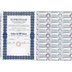 75 - Paris - Soc. d'Inv. de la Samaritaine - 100 francs - 1964 - Spécimen - SUP+