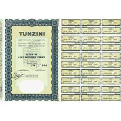 Tunzini - 100 NF - 1962 - Spécimen - SUP+